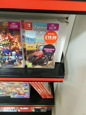 Farming simulator Nintendo switch edition instore at GAME (Plymouth) - £19.99