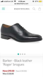 Barker - Black leather 'Roger' brogues - £90 @ Debenhams