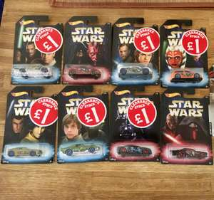 Hot wheel star wars cars £1 in Smyths