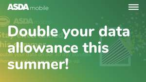 ASDA PAYG (EE) boost data bundles AND double data promotion 28th May until 28th August