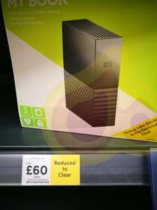 WD My book  3tb  was £120 now £60 at Tesco (Goodmayes)