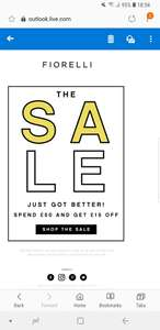 Spend £50 on sale items and get £15 off at Fiorelli