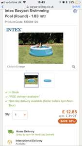 Intex 6ft easy up pool - £12.85 @ CarPart4Less