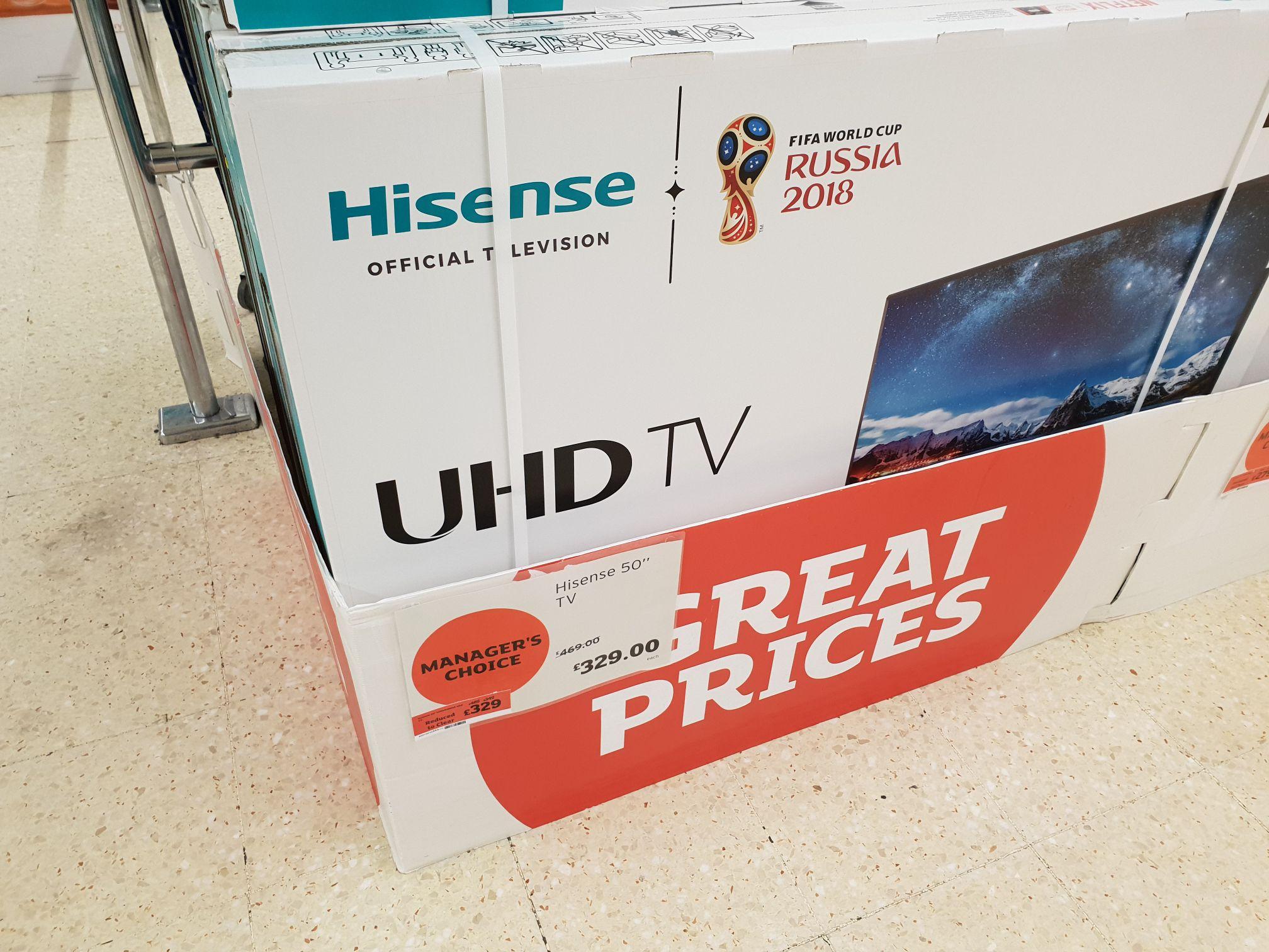 Hisense 50inch UHD TV - £329 instore @ Sainsburys (Whitechapel, London)