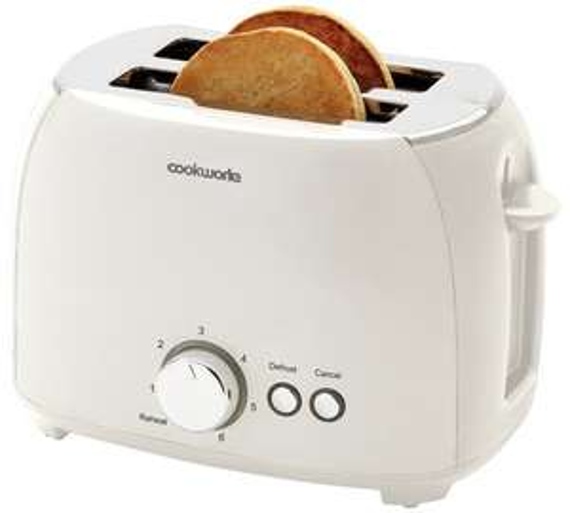 Cookworks 2 Slice Toaster - White - £7.49 @ Argos (free C&C)