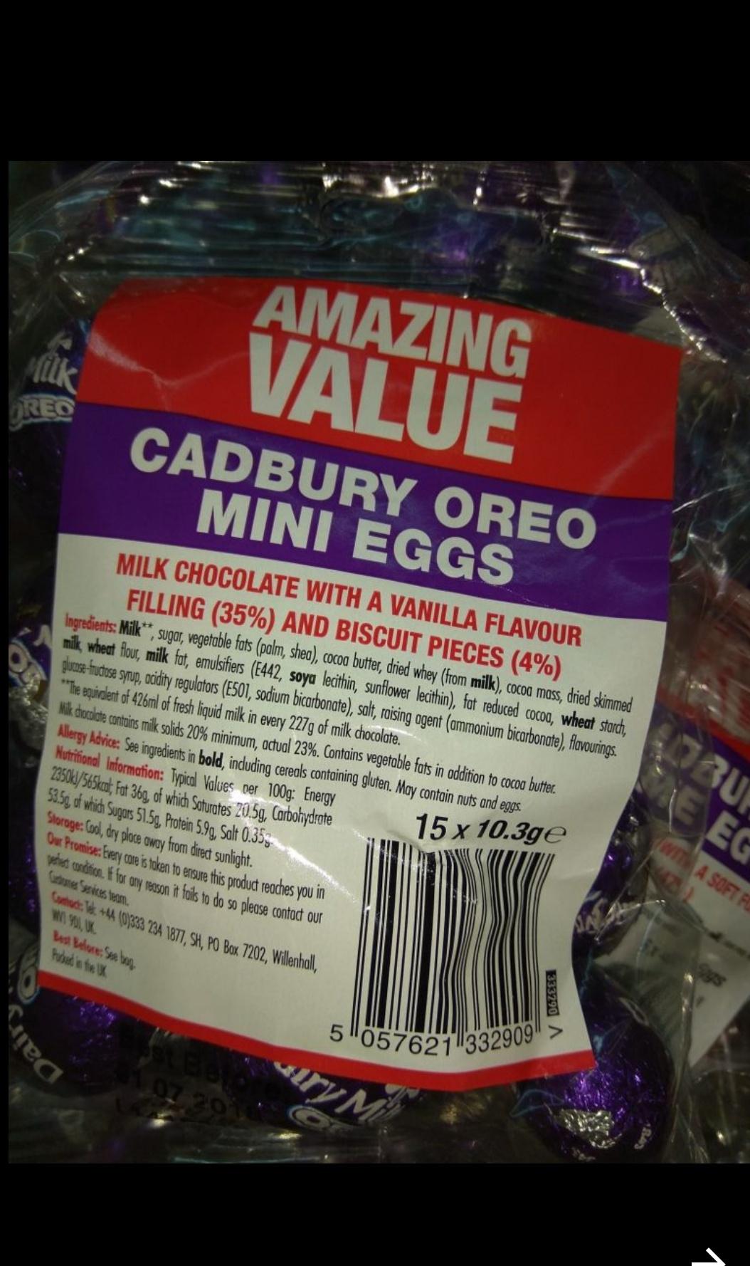 Cadbury's Oreo Mini eggs 15 x 10.3g - £1 @ Poundland