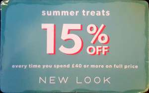 New Look 15% Discount Voucher Code