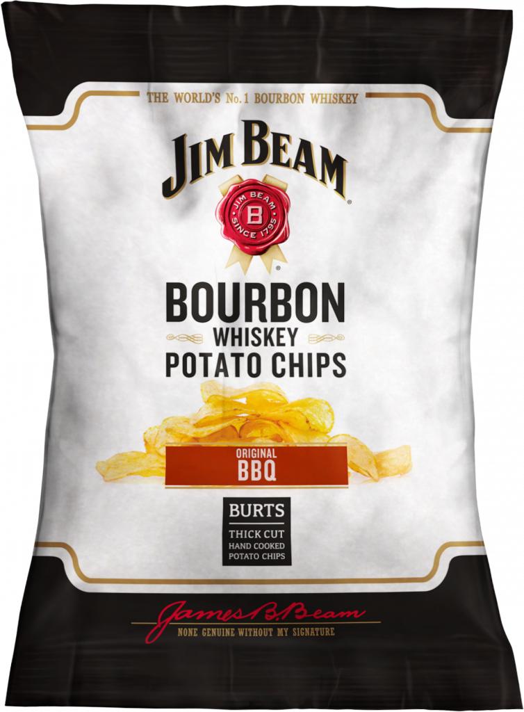 Burts Jim Beam Hand Cooked Crisps, Original BBQ, 120g, £1.19 @ Aldi In Store