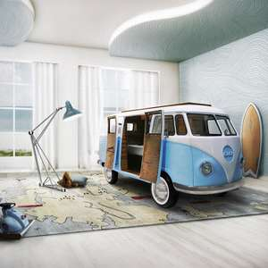 CAMPER VAN KIDS BED with TV, Sofa and Mini Fridge - £33,140 @ Cuckooland