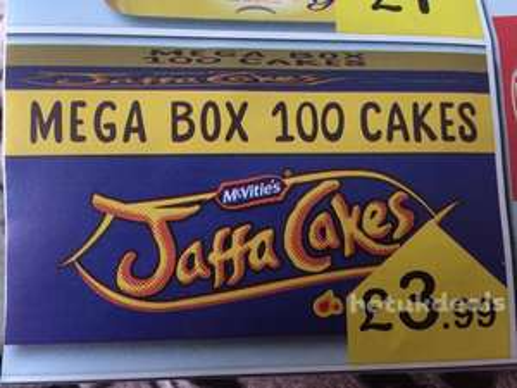 100 Jaffa Cakes (Mega Box) £3.99 Farmfoods