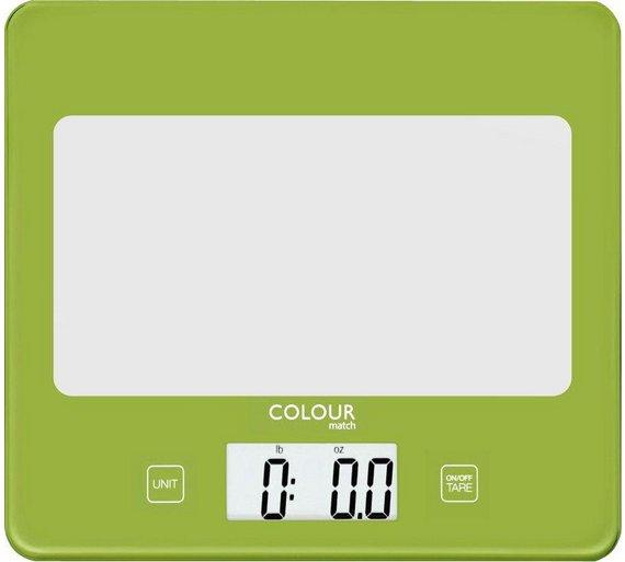 ColourMatch Square Digital Kitchen Scale - Apple Green @ Argos £5.99