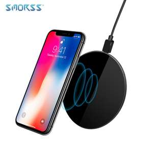 SMORSS New Qi Wireless Fast Charger 5V Ultra-light Wireless Charging Pad Support Phones with Wireless Charging Function £3.59 @ Ali express