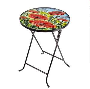 Garden Poppy Glass Folding Side Table £12.74 w/code - Free C&C @ Robert Dyas