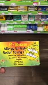 Pollanase  Hayfever Tablets (30) for 70p @ Superdrug - Store Specific - County Durham