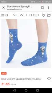 £1 Newlook Unicorn Socks