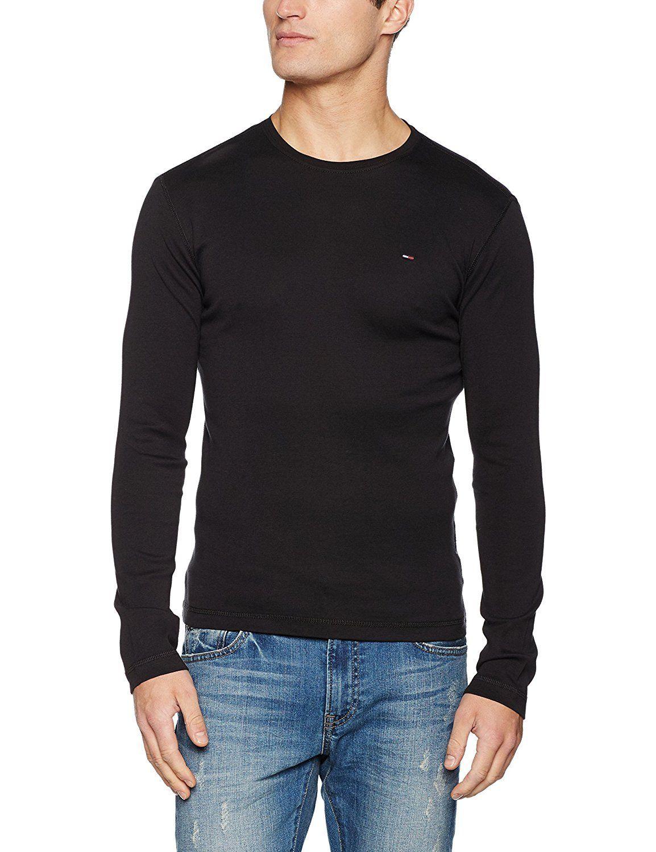 Hilfiger Denim Men's Original Rib Long Sleeve T-Shirt in black £15 Prime £19.49 Non Prime @ Amazon