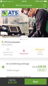 Air-conditioning recharge £29.50 at ATS Euromaster with Groupon