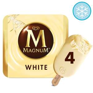 Magnum 4 X110ml £1.60 -  Includes White / Classic / Salted Caramel / Almond / Mint / Honeycomb @ Tesco from 26th June