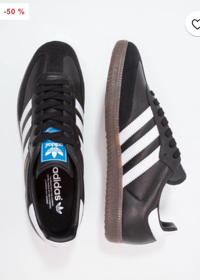 Adidas Samba OG Trainers Black size 3.5 up to 13 £39.99 @ Zalando