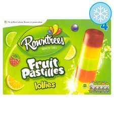 Rowntrees Fruit Pastilles Lollies 4X65ml £1 at Tesco online and instore