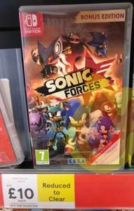 Sonic Forces Switch,X1 Ps4 £10 instore @ tesco, Alloa/nationwide