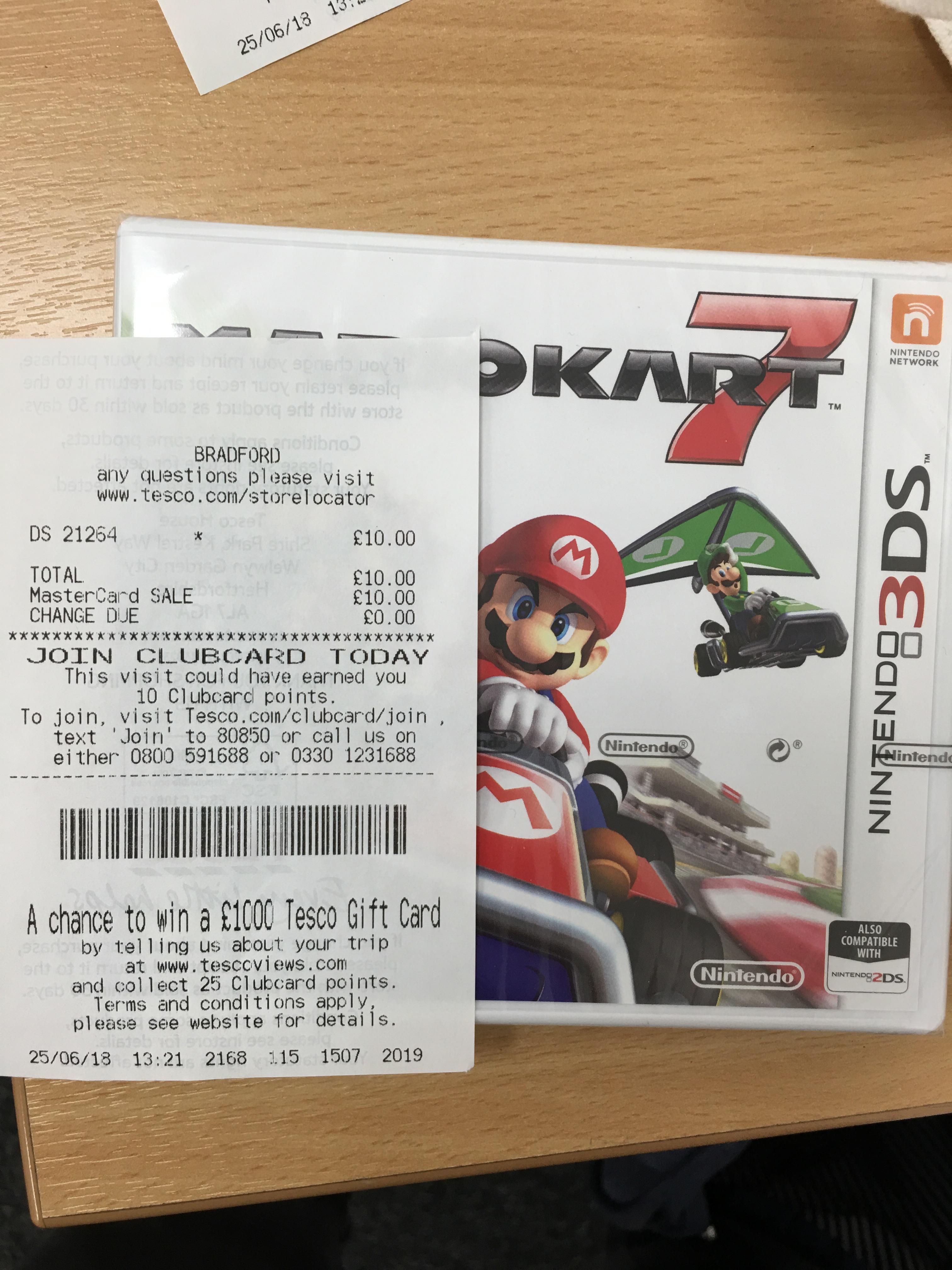 Mario Kart 7 3DS £10 (Tesco Bradford Forster Square)