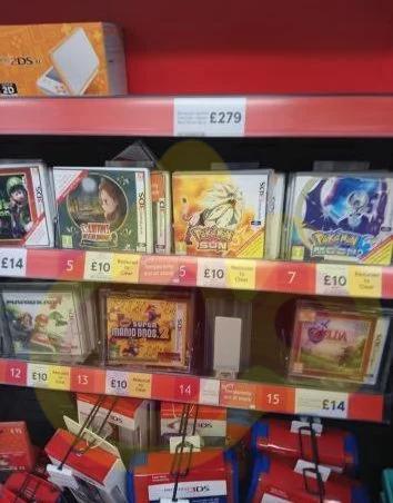 Selection of 3DS games, only £10. Tesco, Clifton Moor York e.g Pokemon sun / moon