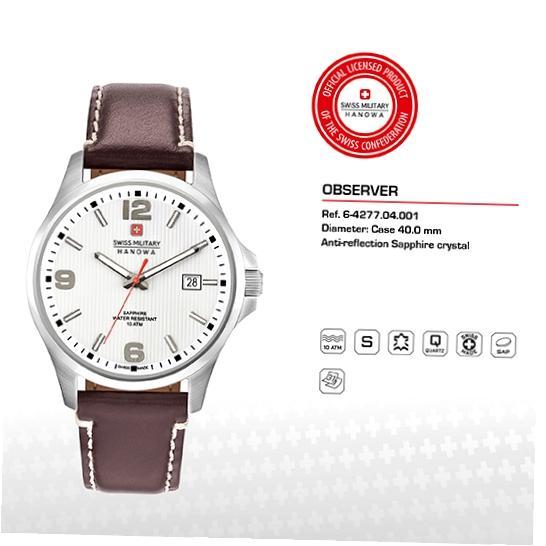 Swiss Military Hanowa Mens Watch 06-4277.04.001 £66.73 @ Amazon