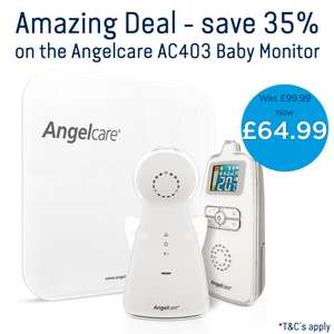 Angelcare AC403 Baby Movement Monitor, with Sound direct from Angelcare £64.99