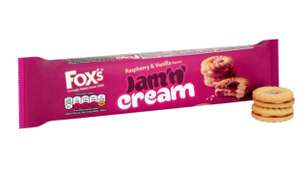 Fox's Jam 'n' Cream - 33p each - 3 for a £1