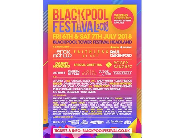 Blackpool Festival Weekend Ticket @ £40 - RRP  £100