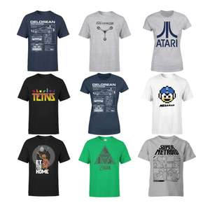 Retro T-Shirts for Men / Women £8.99 Each with Free delivery @ MyGeekBox - Zelda, Tertris, Back To the Future & More