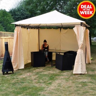 Kingfisher 3m Garden Gazebo with Sidewalls £75 with code (£79.99 Delivered) / Landmann Grill Chef 2 Burner Gas BBQ £50 (£54.99 delivered) / Sports Chair £15 (£19.99 delivered) @ JTF