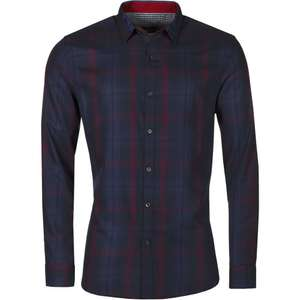 Ex-High Street brand New Mens Slim Fit Button Up Check Shirt Long Sleeve Smart Formal Casual Top £5.59 @  m-and-h-trading Ebay