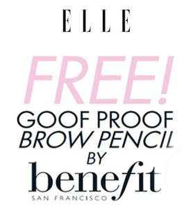 ELLE Goof proof brow pencil by benefit