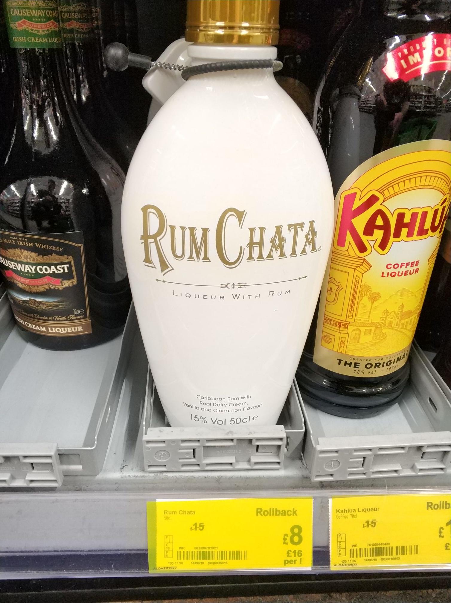 Rumchata liqueur - £8 - Asda