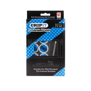 Grip-It TV Bracket Plasterboard Fixing Kit  £4.90 delivered using code // Gripit 25mm Blue Plasterboard Fixings 25pk £7.99 w/code (more in post)  @ Gripit