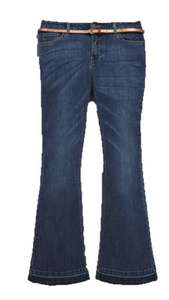 V By Very Kickflare Jeans With Belt £2.99 / £6.94 delivered @ Bargain crazy