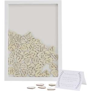 Ginger Ray Boho Wooden Guest Book Frame and Hearts £13.60 C&C w/code at Hobbycraft