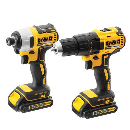 Dewalt Brushless Combi Drill & Impact Driver + 2x2ah, TSTAK and charger £167.99 @ Powertoolmate