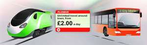 £2 Plus Bus for any town/city in the country when buying any train ticket online for travel in July+August