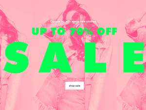 Missguided Up to 70% off SALE - Over 7000 items from £1 + 20% Student Discount + £10 Off £50 Spend w/code - works on Sale