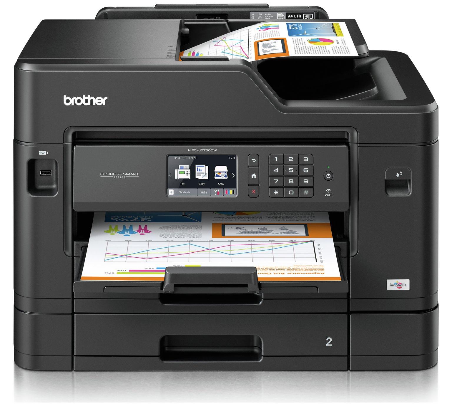 Brother MFC-J5730DW All-in-One Inkjet A3 Printer duplex scanning & printing £149.99 @ Argos plus £50 cashback + 3 year warranty via claim