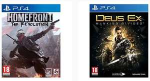 [PS4] Deux Ex Mankind Divided + Homefront : The Revolution £5.99 @ TheGameCollection eBay store