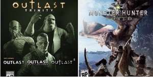Outlast trinity (preowned) Xbox one £10.15 / Monster hunter world £18.39 (preowned) Xbox one / Resident evil 4 HD remake £8.71 (preowned) Xbox one @ musicMagpie £10.15