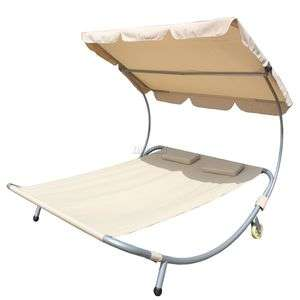Westwood double hammock sunlounger with canopy £64.90 delivered @ eBay sold by mantradingltd