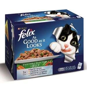 Felix As Good As It Looks 12packs £3 @ Pets at Home