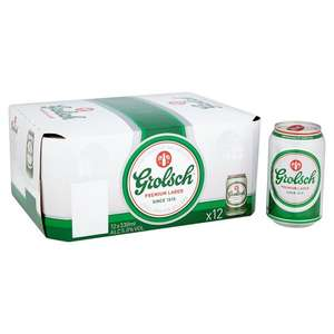 Grolsch 12 x 330ml cans £6 @ Morrisons instore
