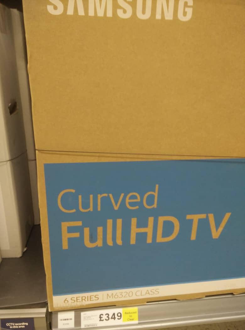 TESCO Instore Clearance Deal: Samsung UE49M6320 Curved  FULL HD Smart TV - £349 (Stretford)