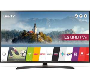 "LG 49UJ634V 49"" Smart 4K Ultra HD HDR LED TV now £359.97 delivered @ Currys"